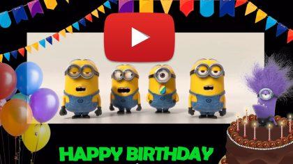 Happy Birthday to you! Happy birthday song minions.