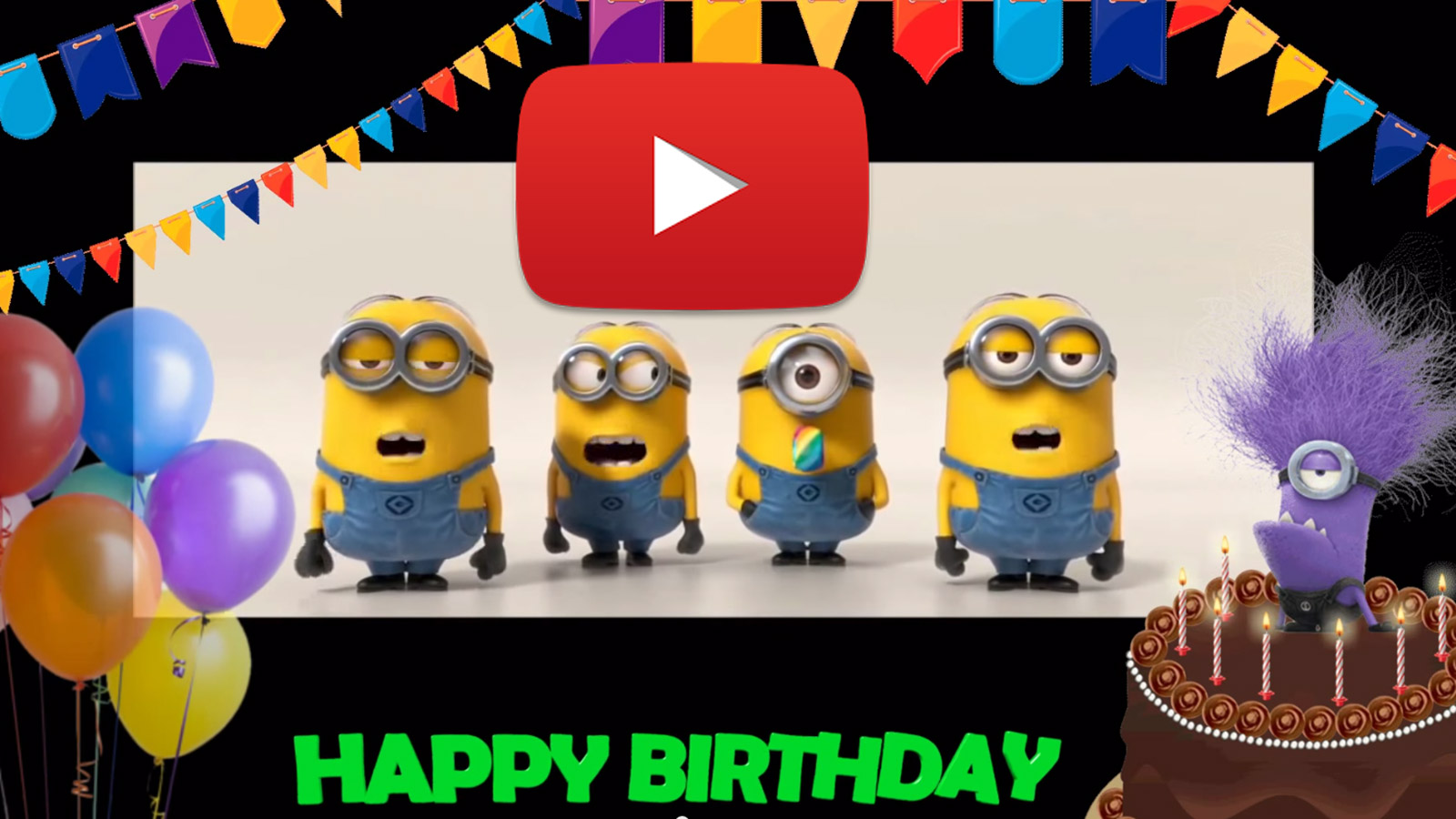 Happy Birthday to you! Happy birthday song minions.