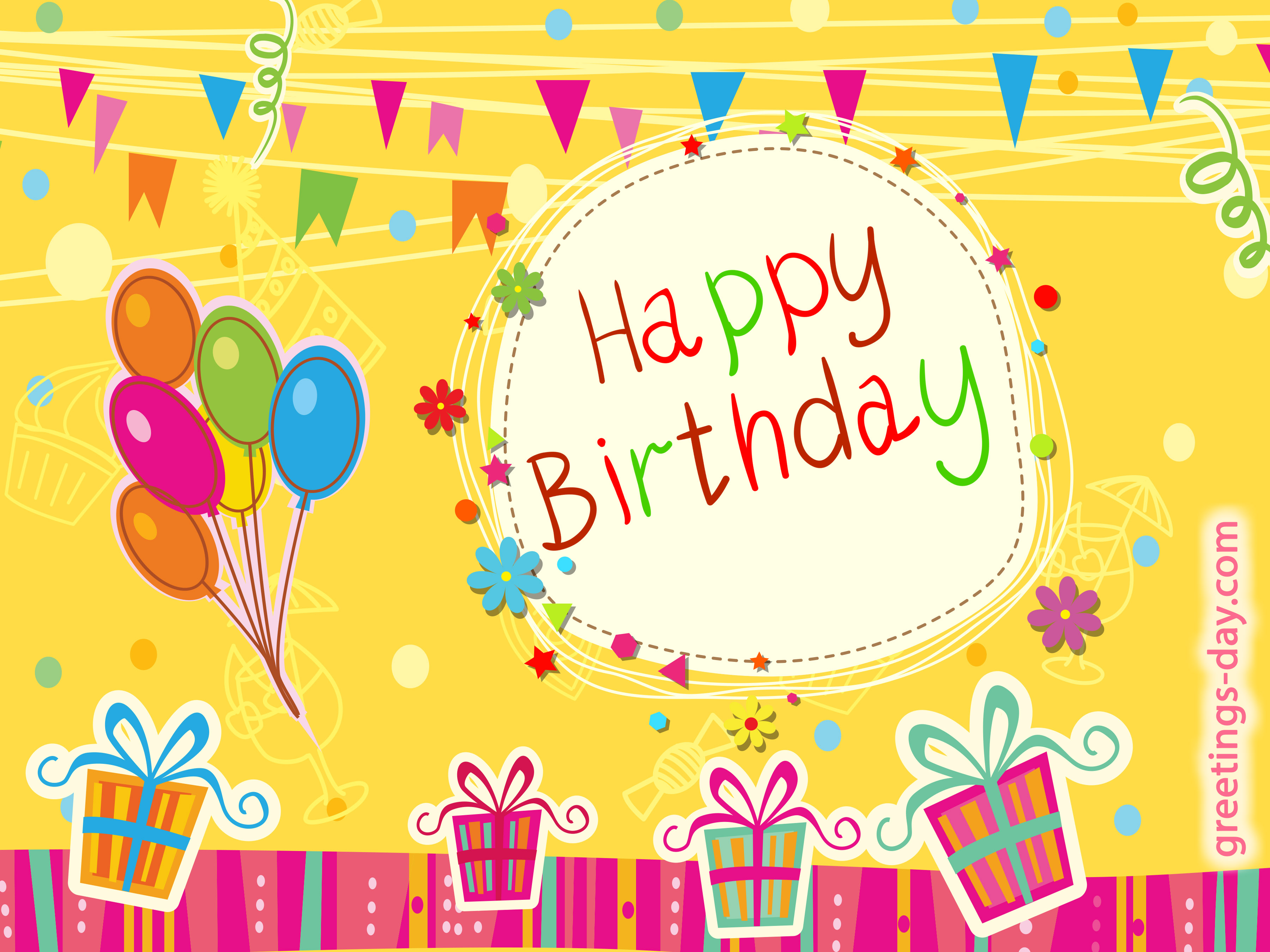 Happy birthday greeting Cards. Share image to you friend on birthday.