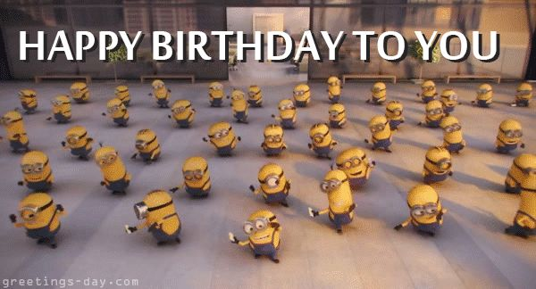 Happy birthday minion gif