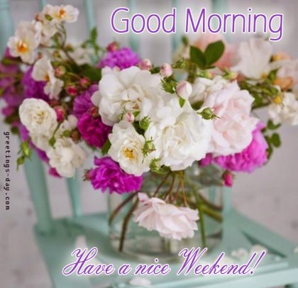 Have a nice day. Happy Weekend Card.