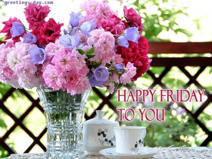 Good morning it's friday!