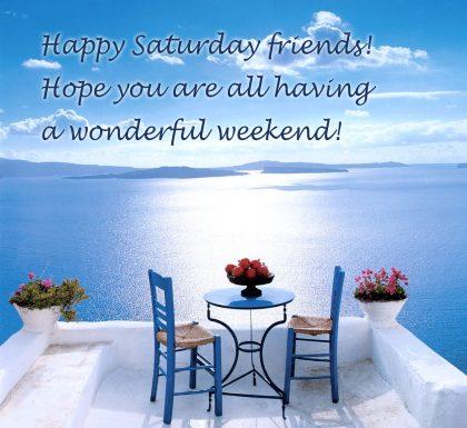Happy Saturday Friends.