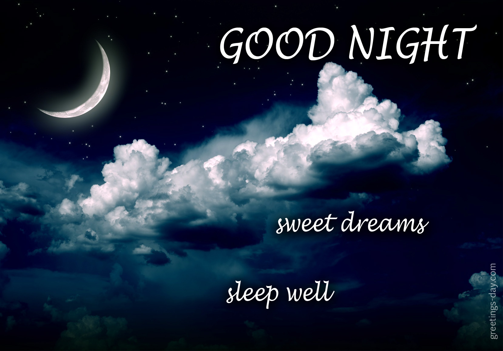 Good night – Sweet Dreams Sleep Well