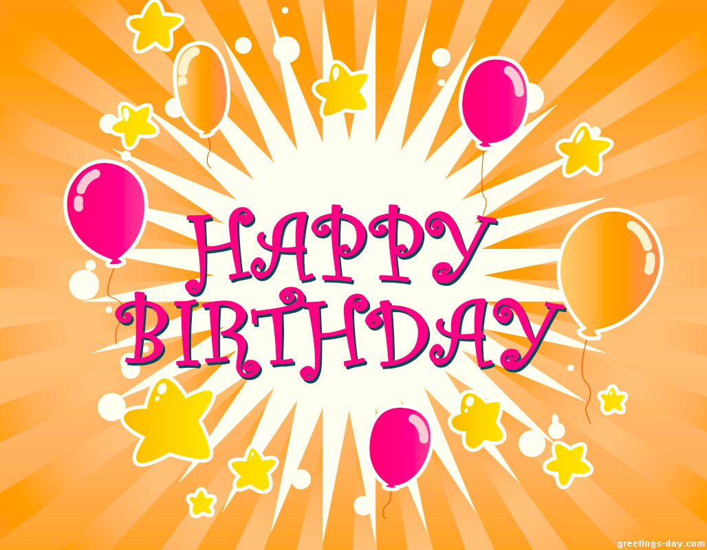 Free e Birthday Cards Happy BDay Wishes – Free E Birthday Cards