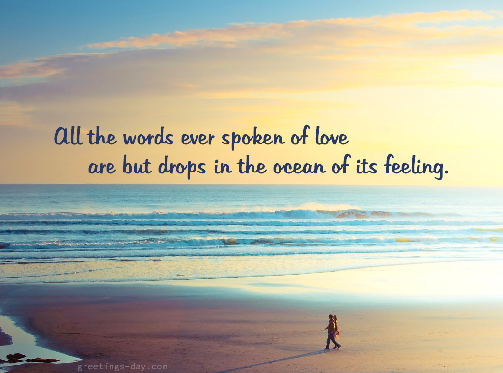 All the words ever spoken of love…