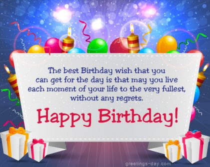 The best Birthday wish that you…