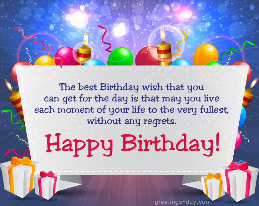 Happy Birthday Wishes Greetings Free e Birthday Cards – Live Birthday Greetings