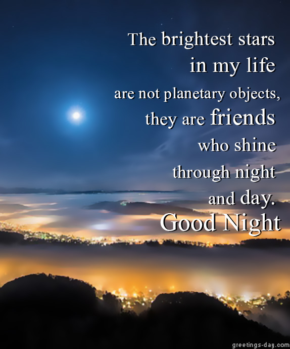 Greeting cards for every day good night friends good night friends m4hsunfo