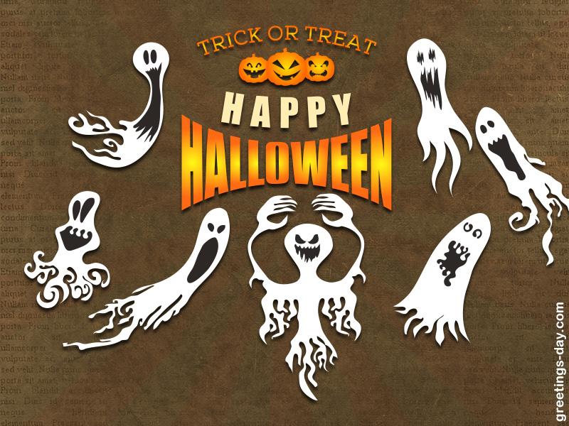 Free Happy Halloween Ecards –  Ghostly Greetings
