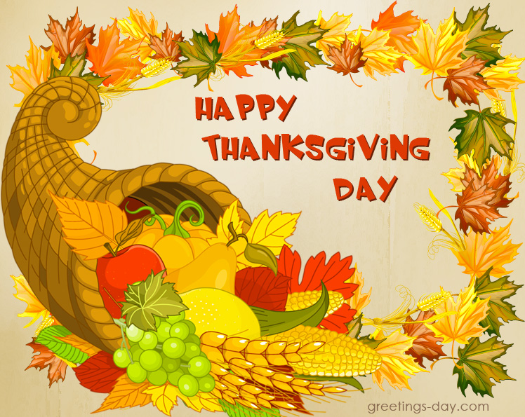 Thanksgiving Day Greeting Image card