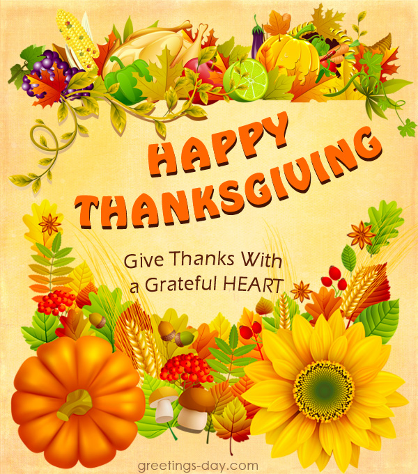 Thanksgiving Greetings Sayings & Pictures