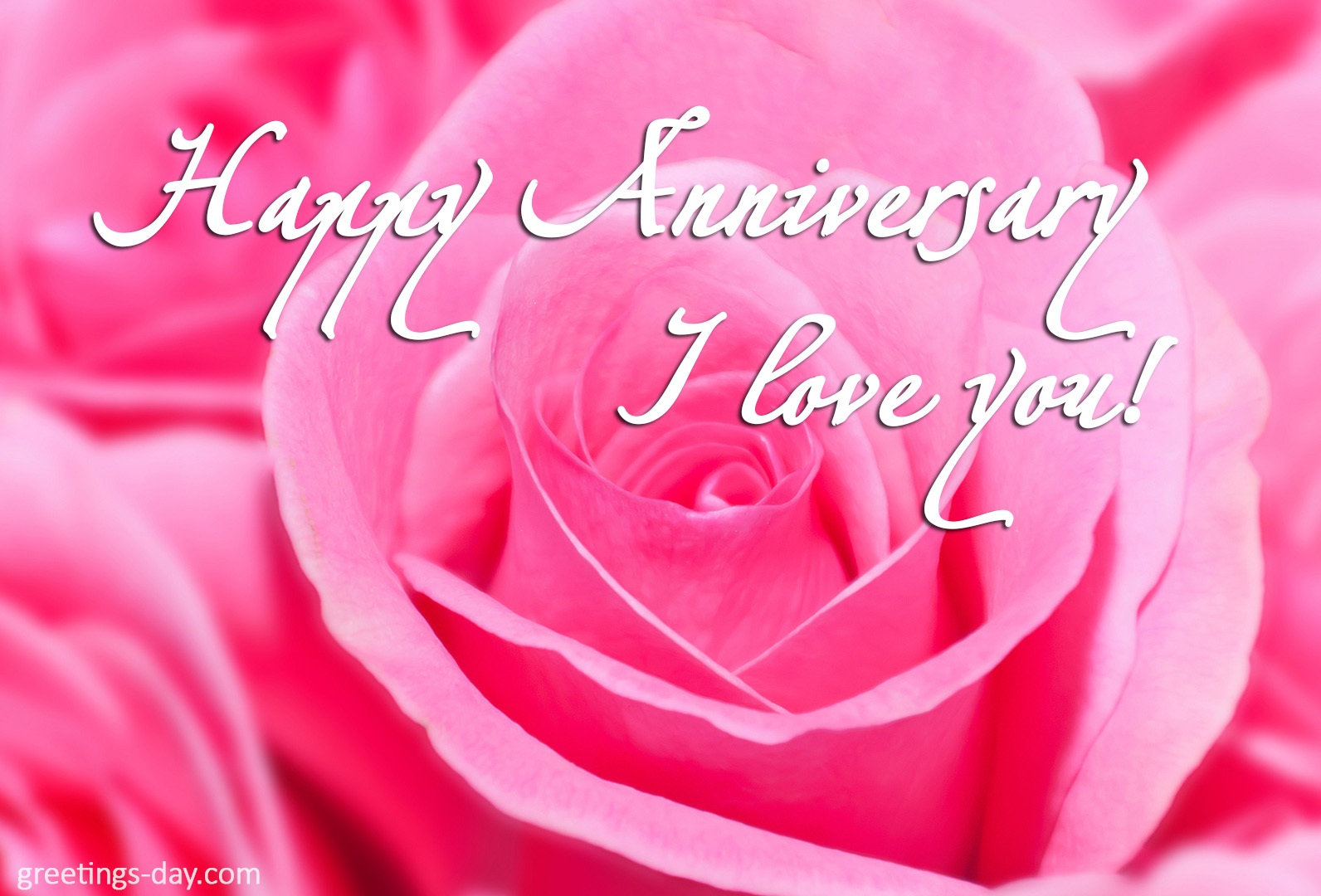 Happy Anniversary! I love you.