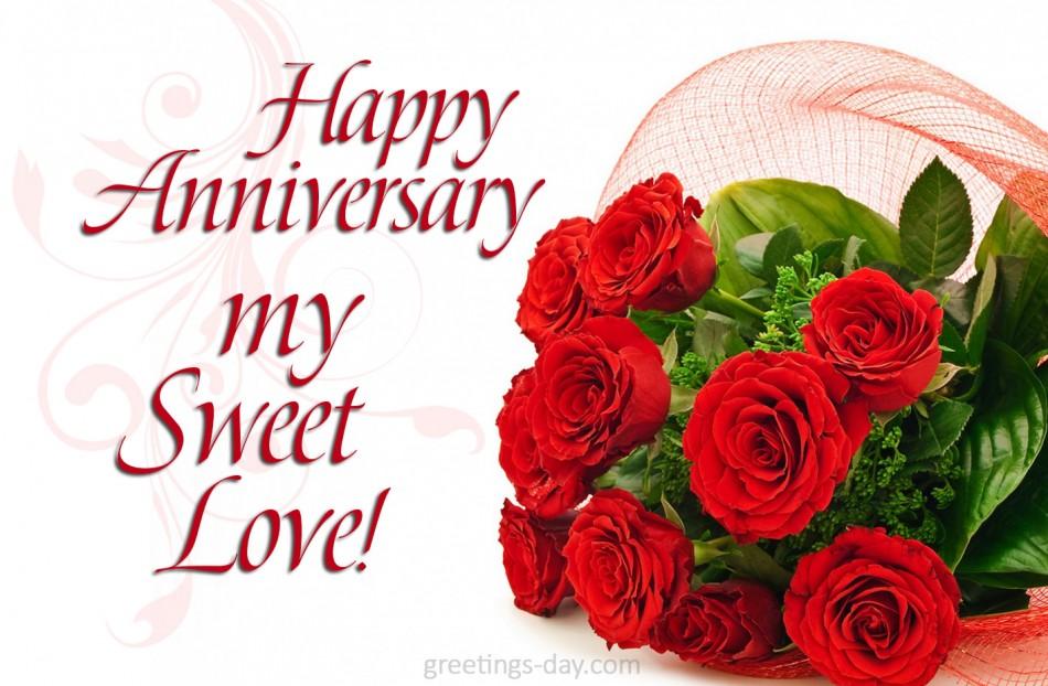 Happy anniversary my sweet love
