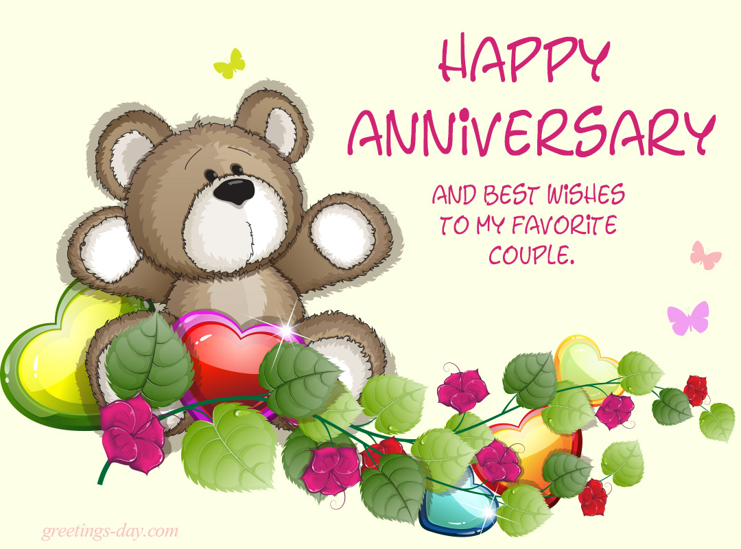 Happy Anniversary And Best Wishes To My Favorite Couple