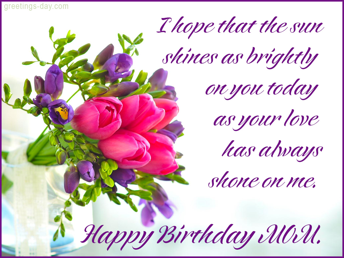 Happy Birthday Mom Free Ecards Pics – Happy Birthday Mom Greetings