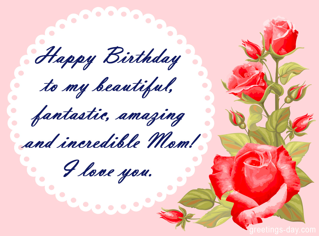 Birthday Wishes for Mom Happy birthday Mother – Happy Birthday Greetings for Mom