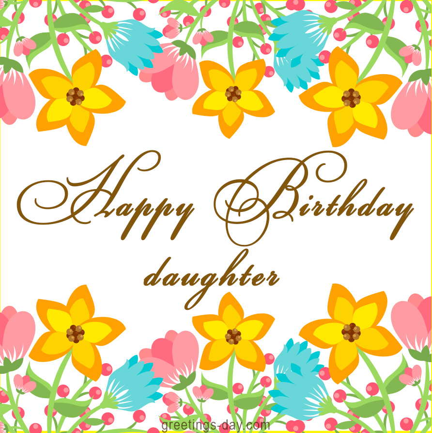 birthday daughter card