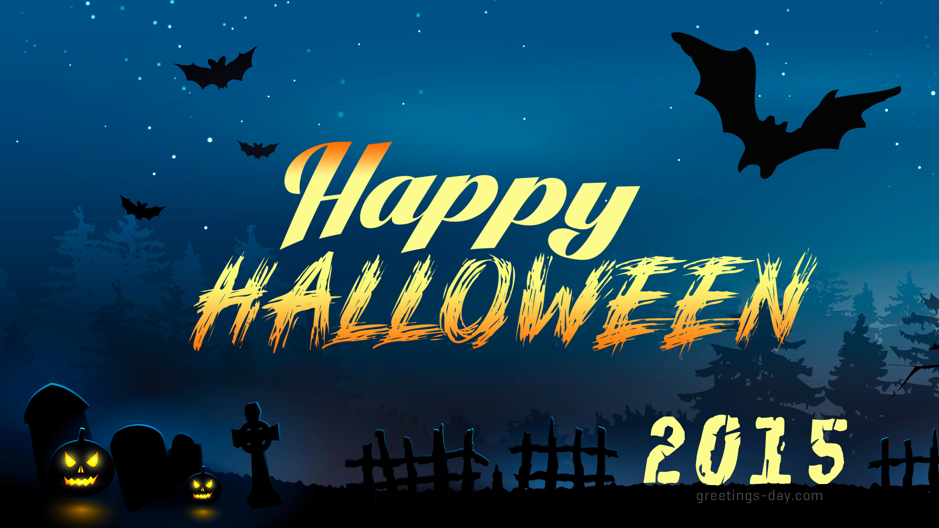 Happy Halloweens Bat Nigth eCard