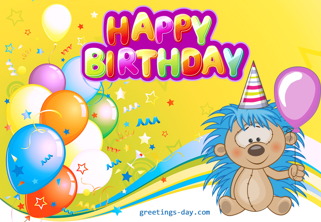Free Happy Birthday Cards For Kids .