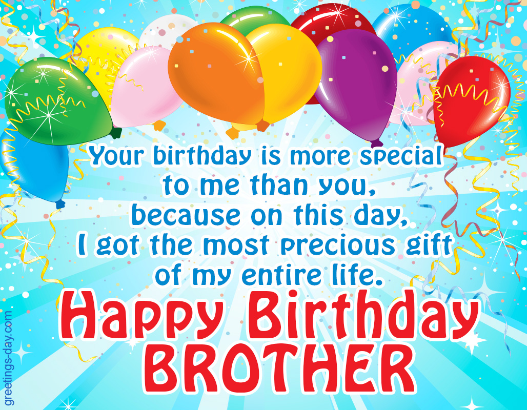 Happy Birthday Brother Wishes Ecard