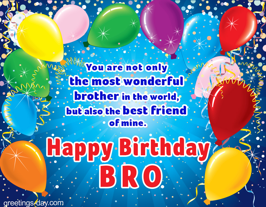 Birthday Brother Ecard