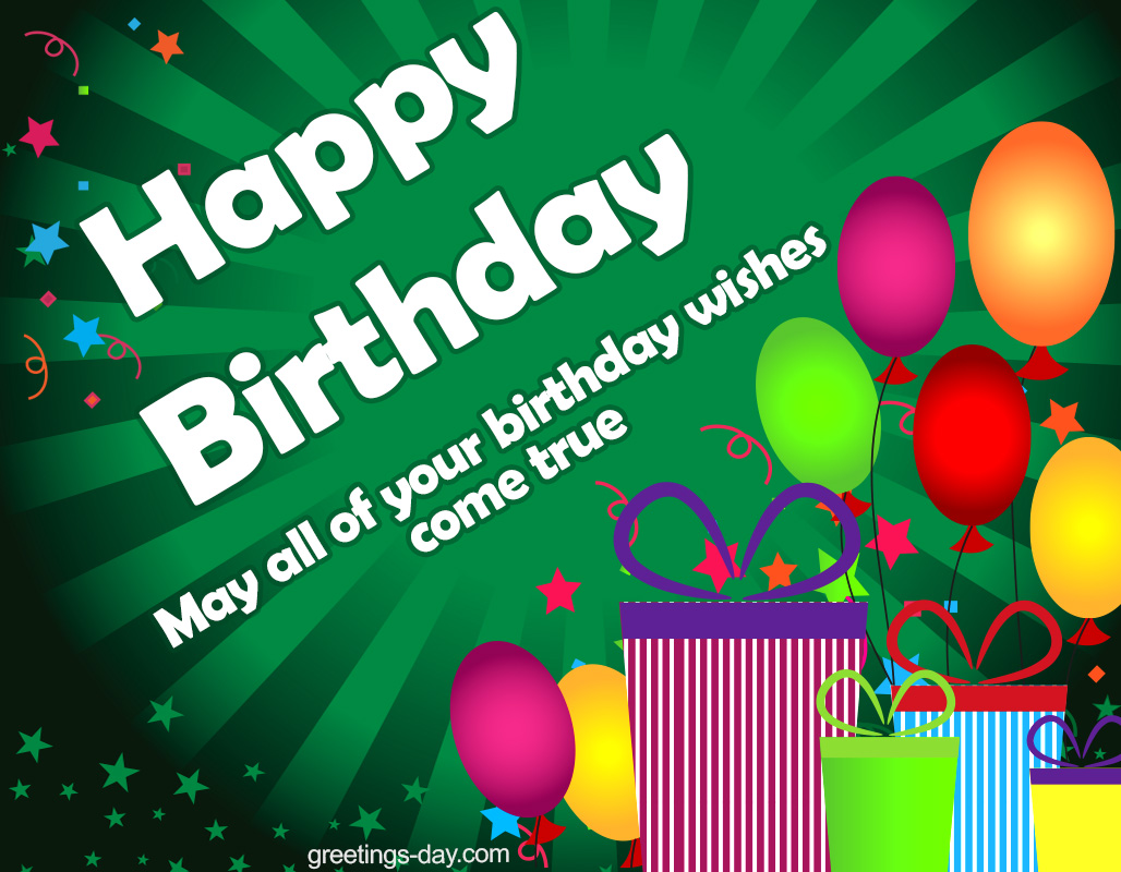 Greeting Cards For Every Day Happy Birthday Best Wishes And