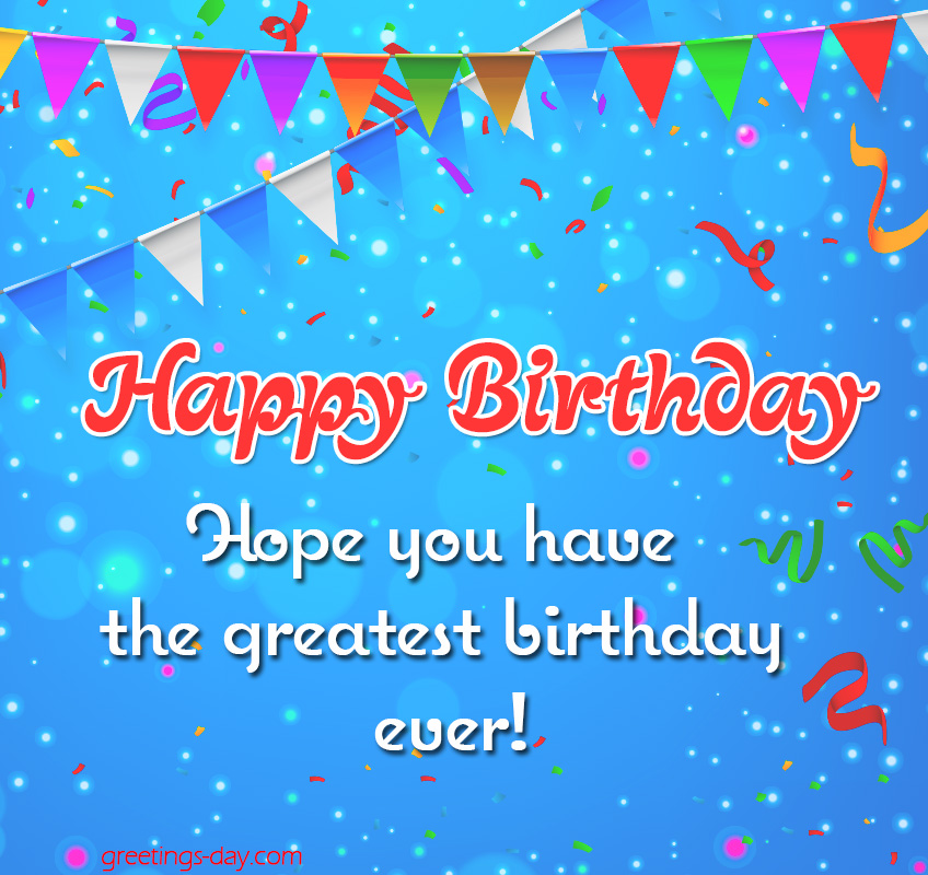 Happy Birthday Wishes eCard.