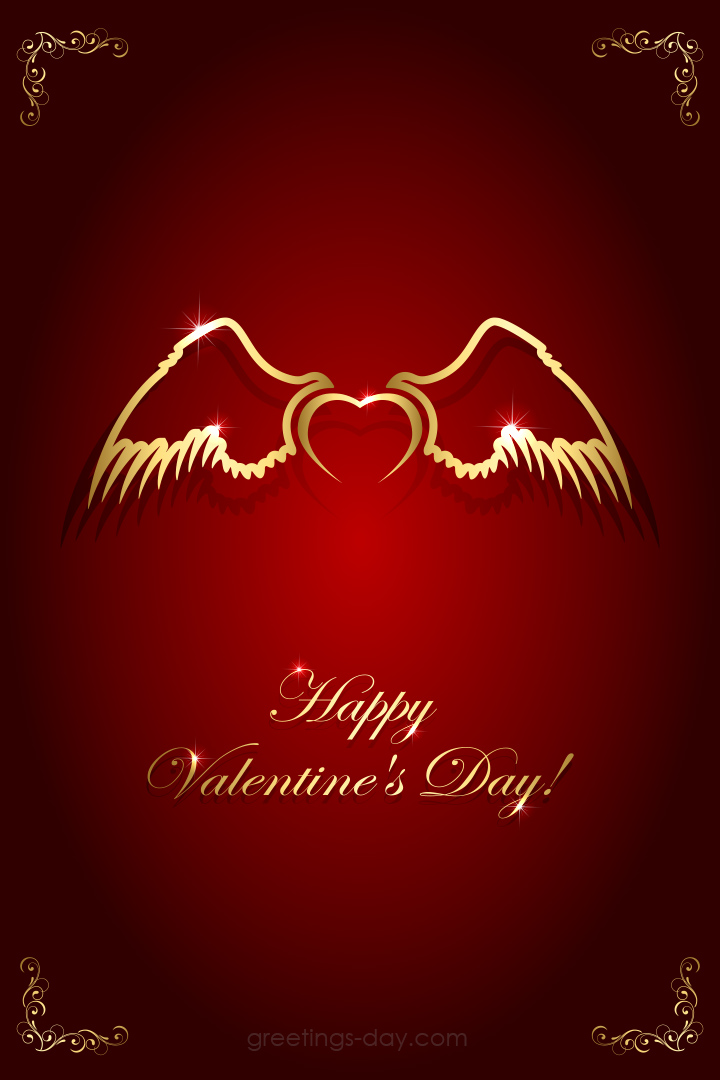 Valentine's Day eCard Love Angel Wings