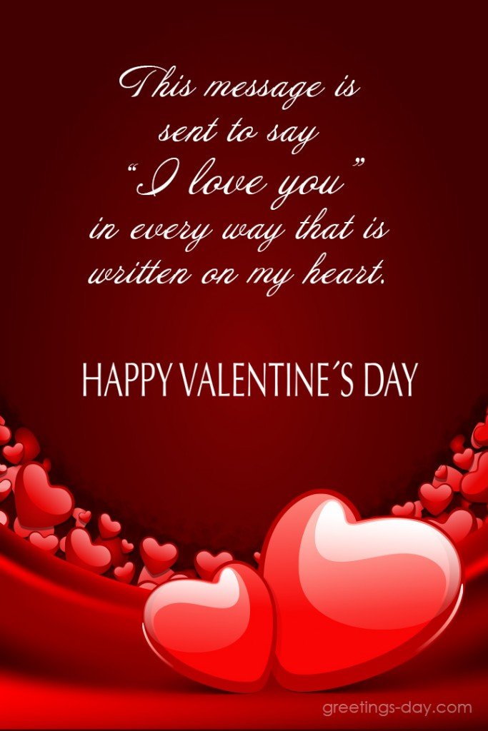 Valentine's Day card messages to Him. Sent Cards to Social.