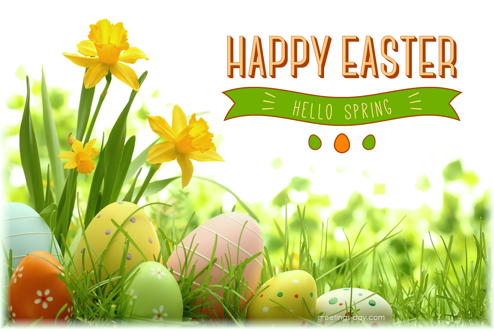 Happy spring day message – www