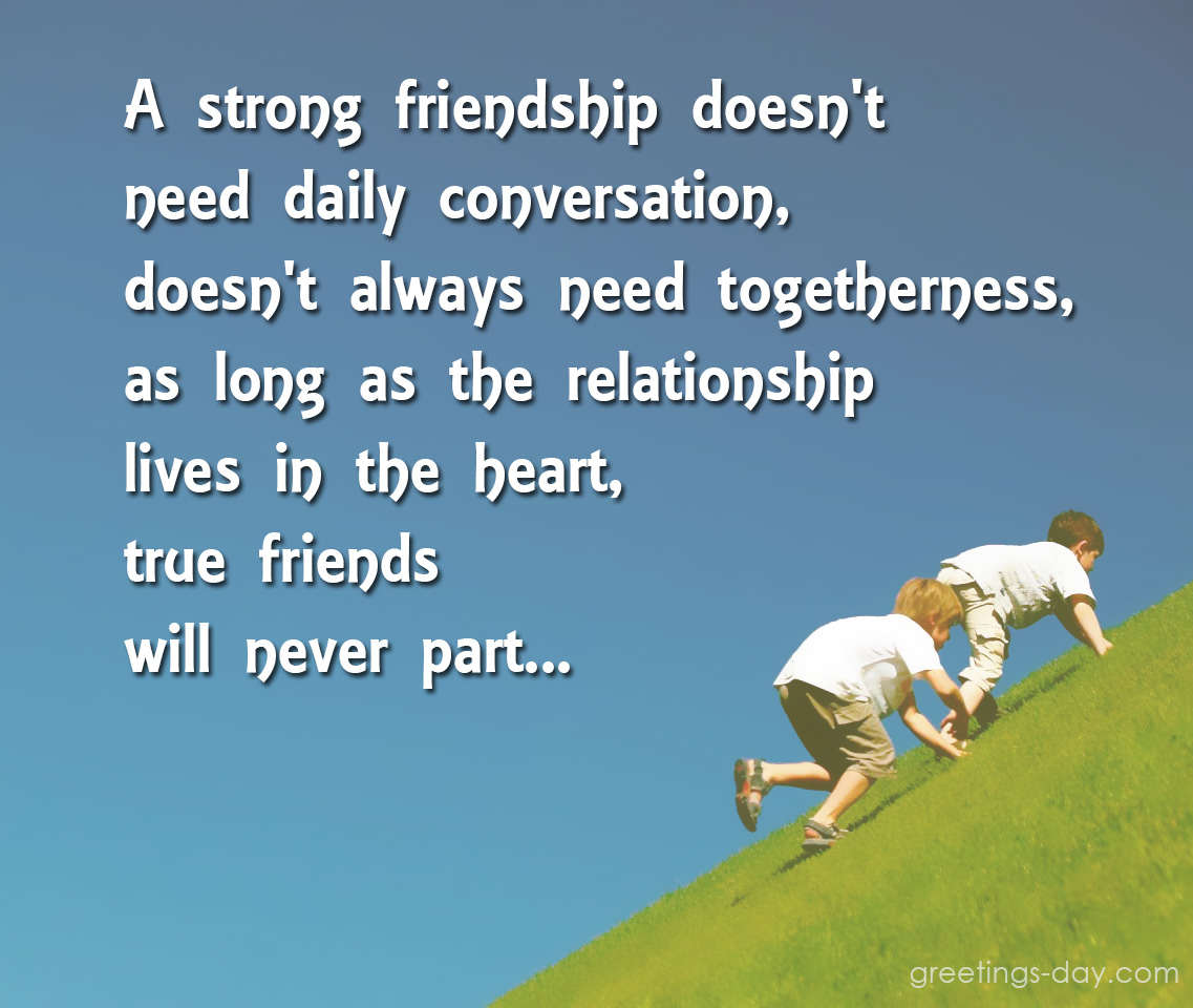 A Quote About Friendship Quotes About Friendship ⋆ Quotes ⋆ Greeting Cards Pictures