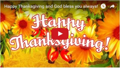 Happy Thanksgiving – Free Video Greeting Card