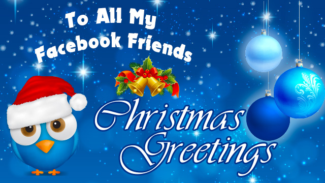christmas FB friends