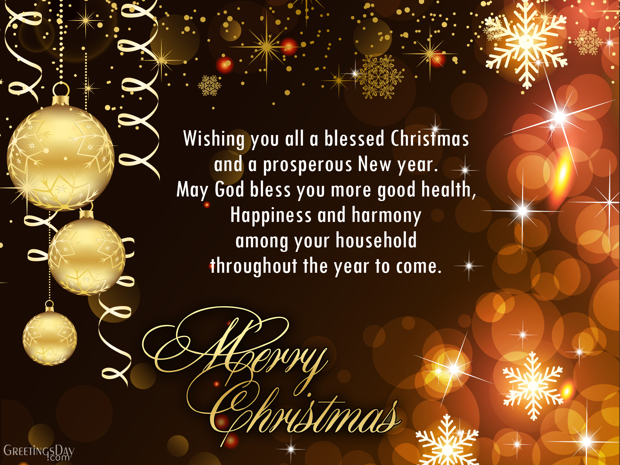 Have A Healthy And Happy Christmas And A Blessed New Year.