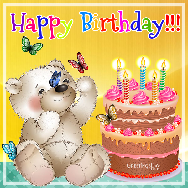 Happy birthday images wishes pictures photos and animated pics birthday teddy ecard m4hsunfo