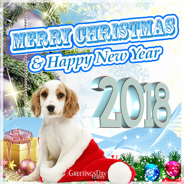 2018 Merry Christmas Happy New Year