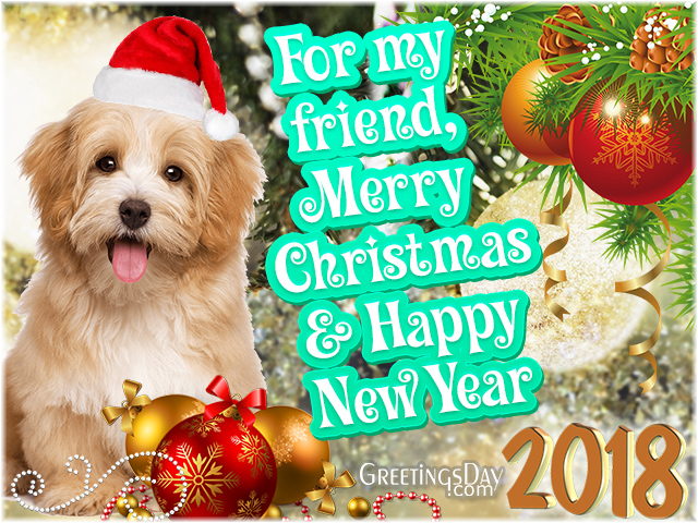 Christmas wishes Dog cards 2018
