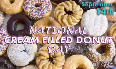 National Cream Filled Donut Day