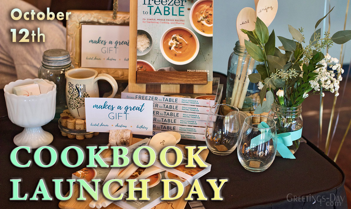 Cookbook Launch Day