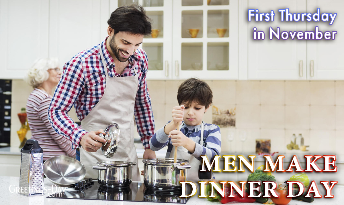 Men Make Dinner Day