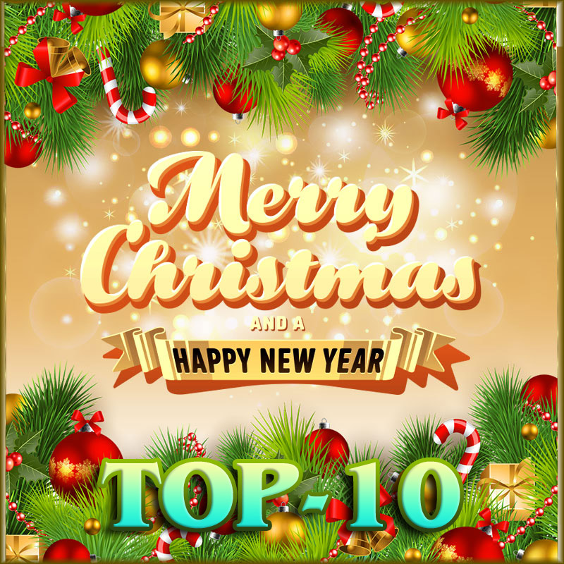 Top-10 Christmas and Happy New Year Cards