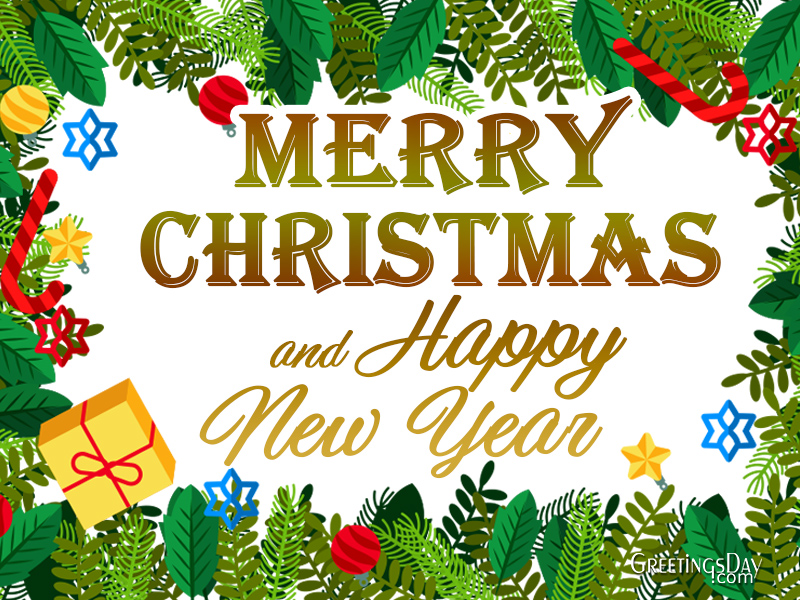 We wish you a Merry Christmas An Happy New 2019 year
