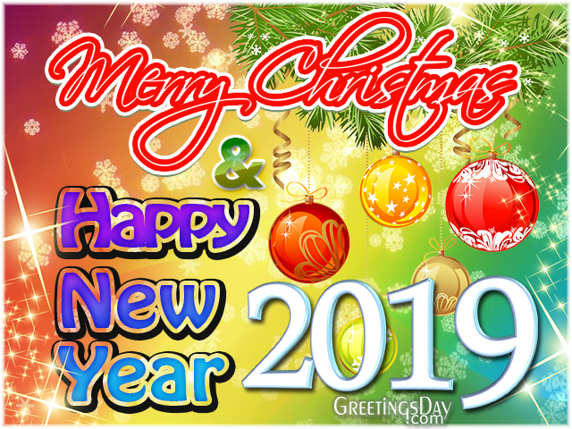 Happy Holidays! Christmas and Happy New Year 2019