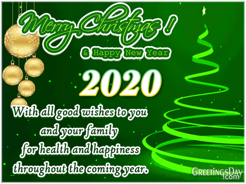 Happy New Year 2020 and Merry Christmas to you