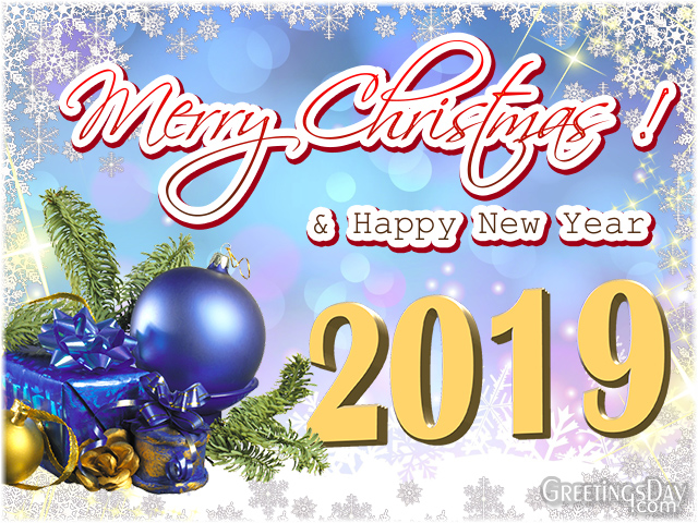 Happy New Year and Merry Christmas Congratulations