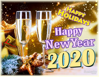 New year Happy holidays 2020