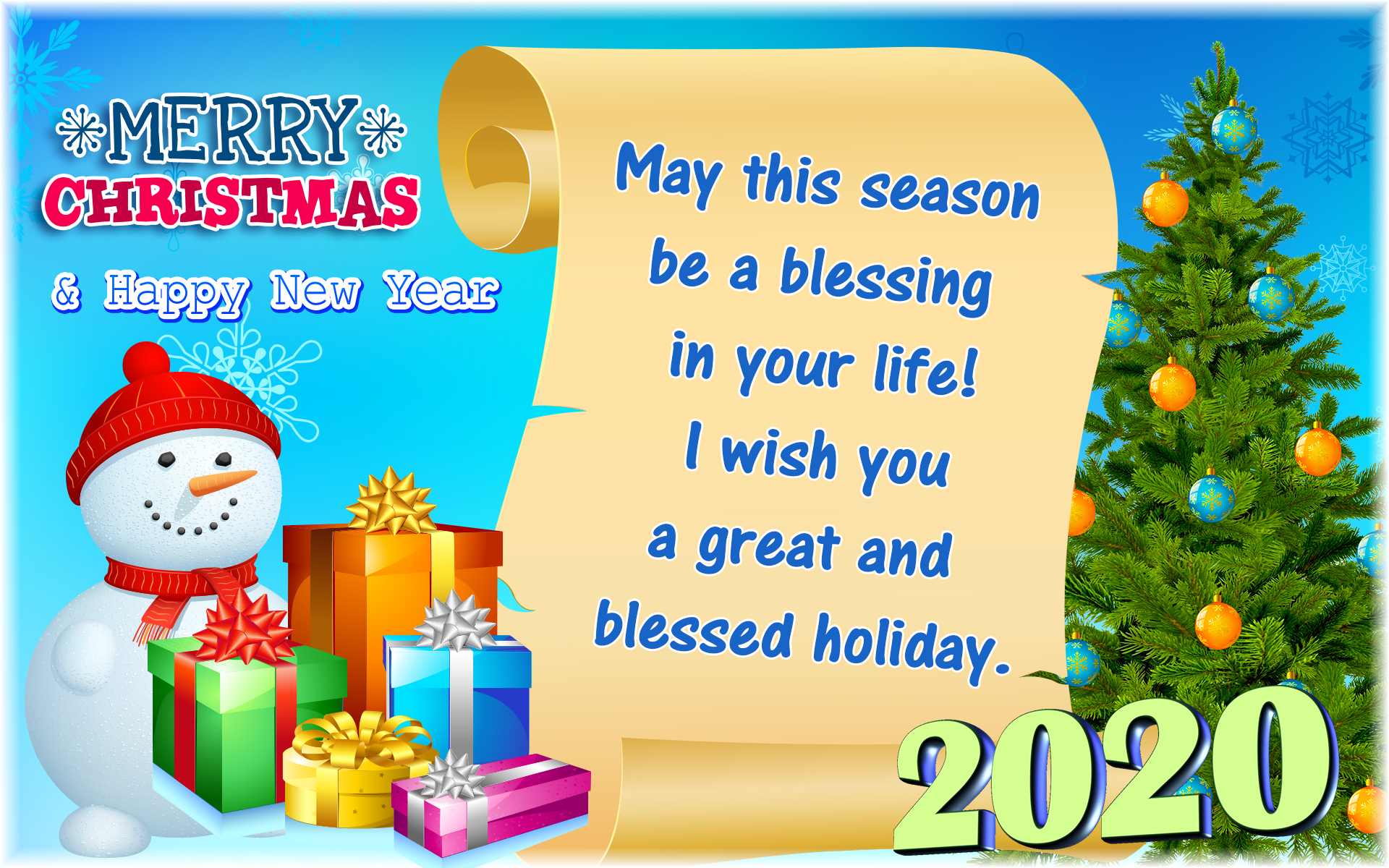 Warm Wishes Of Christmas & Holidays