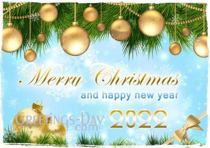 Merry Christmas and Happy Newr year 2022