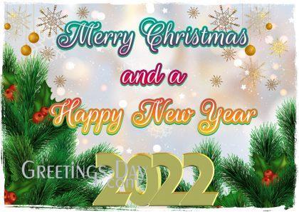 christmas card and HNY 2022